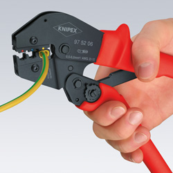 Crimping Pliers also for two-hand operation